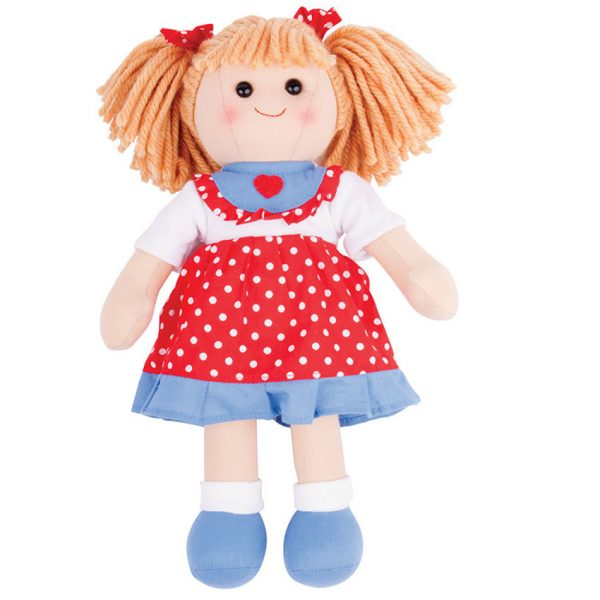 personalised red rag doll Emily