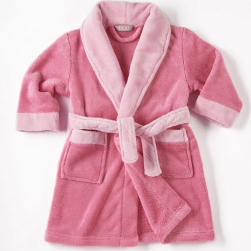 Personalised pink dressing gown