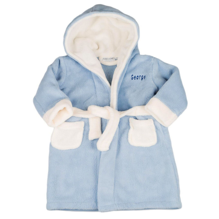 3a9f3265116b Personalised hooded dressing gown for babies boys and girls