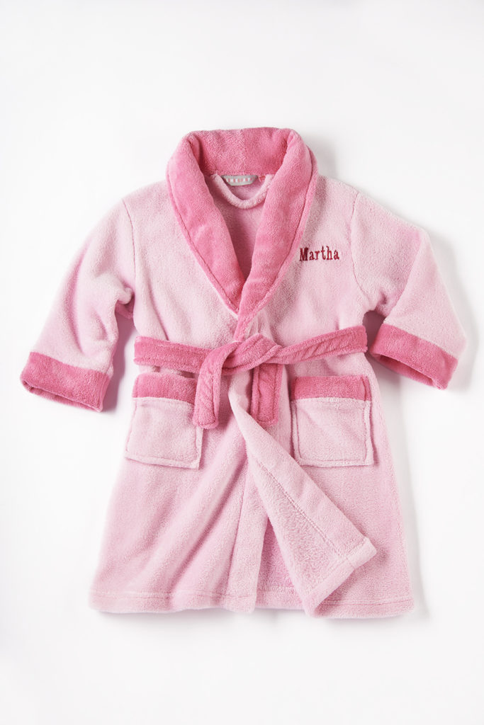 personalised pink children's dressing gown