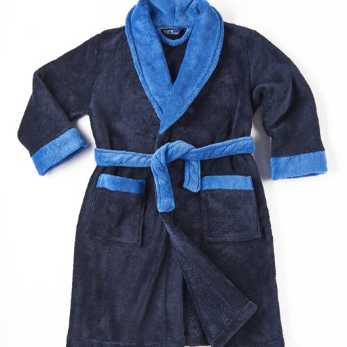 Navy dressing gown personalised