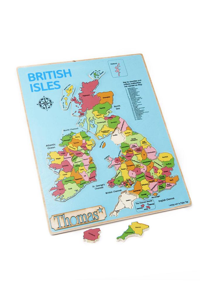 Map Of Uk Jigsaw.British Isles Puzzle