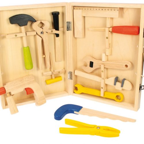 wooden carpenters tool box