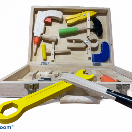 wooden carpenters tool set