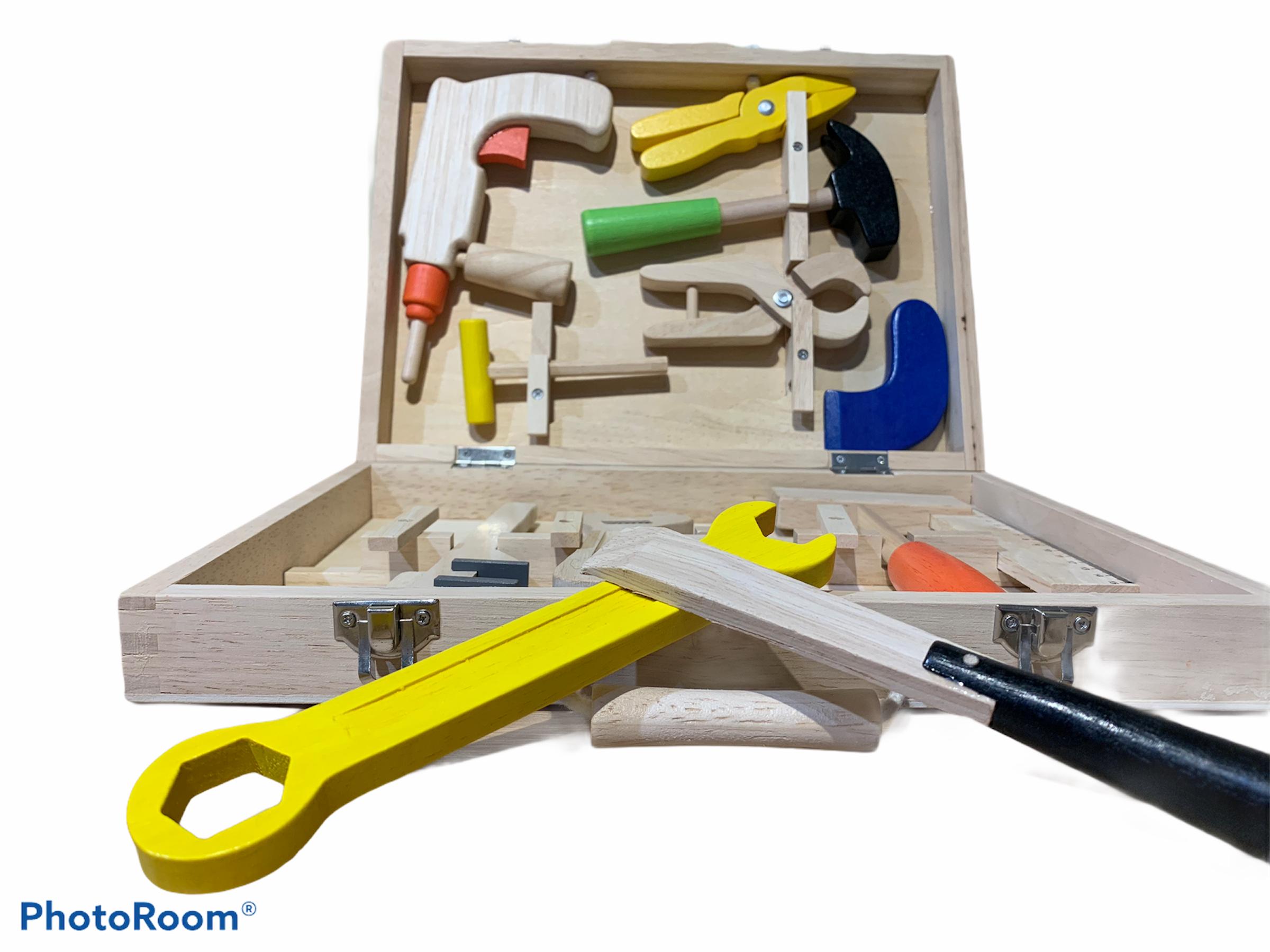 wooden carpenters tool set