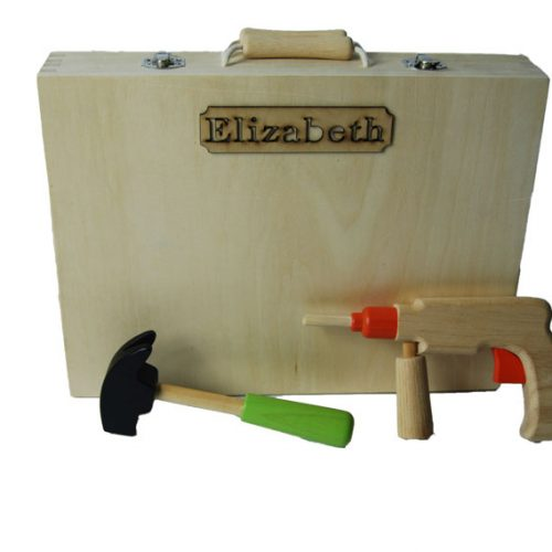 personalised wooden carpenters tool box