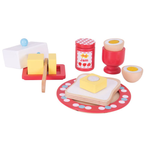wooden breakfast set