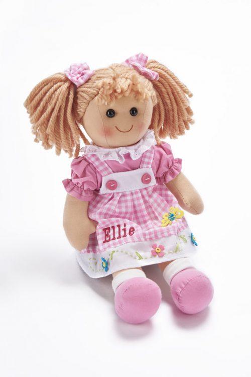 pink gingham rag dollLR