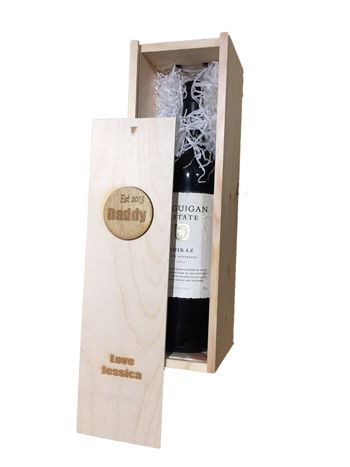 Image of Personalised Wooden Wine Box Gift
