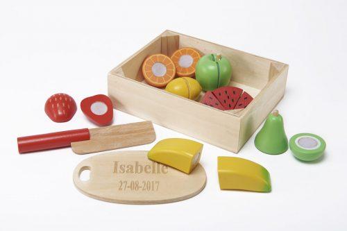wooden chopping fruit
