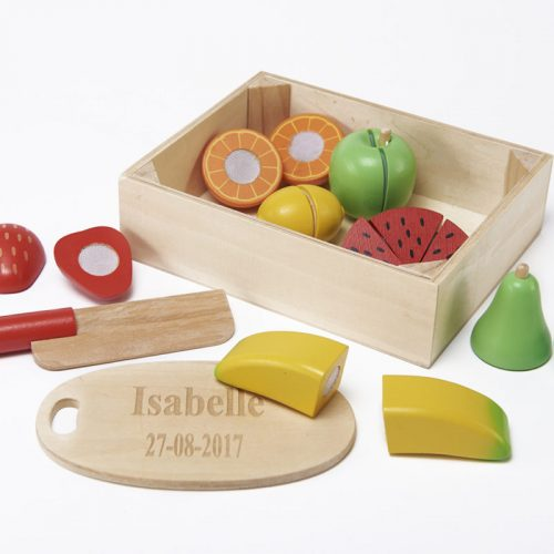 wooden chopping fruit