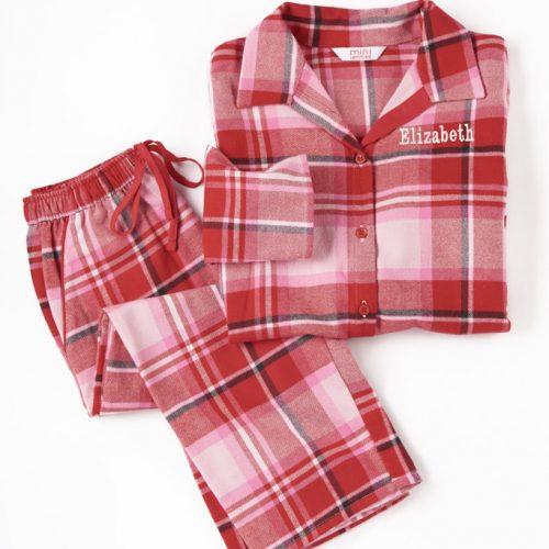 Personalised winter traditional pyjamas