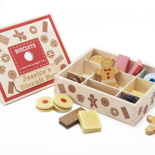 wooden biscuit box