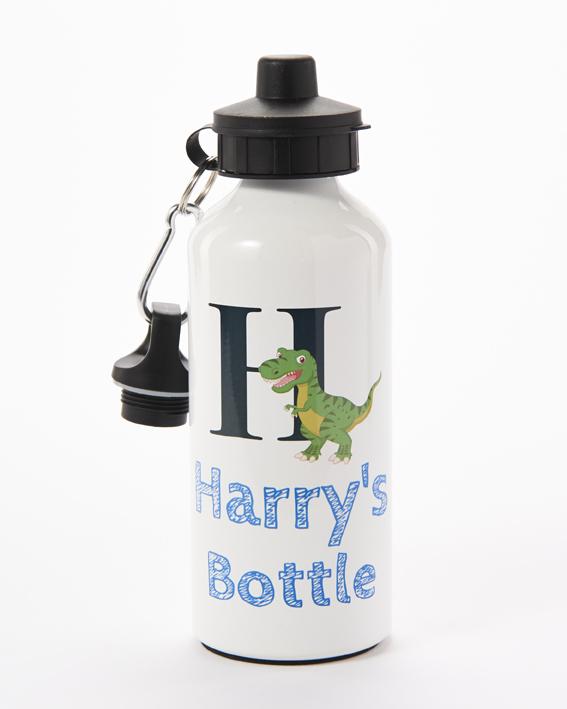 Personalised Dinosaur water bottle