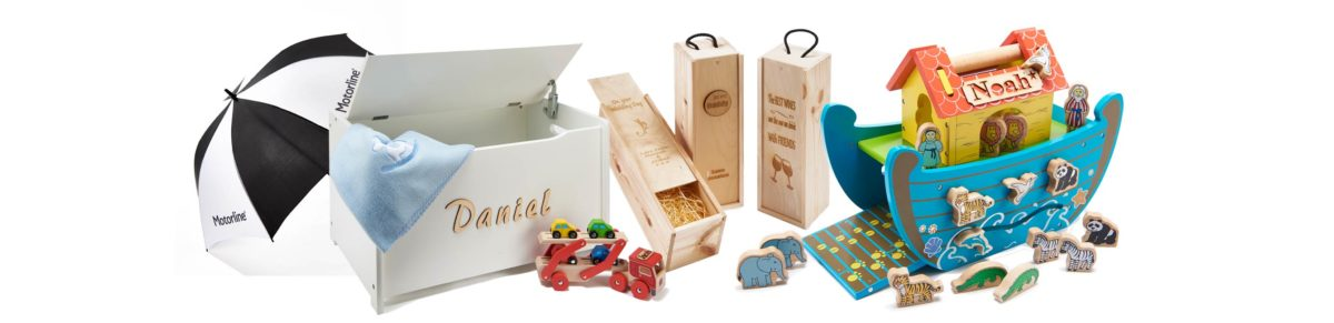 Range of personalised gifts for babies, children and families