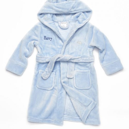 baby blue bathrobe