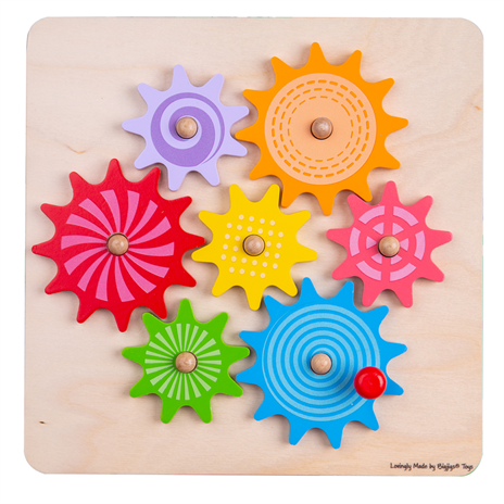 wooden moving cog puzzle
