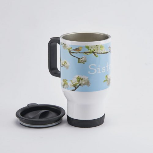 Personalised Travel Mug Blossom Spring