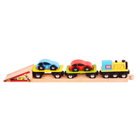 wooden train car loader personalised