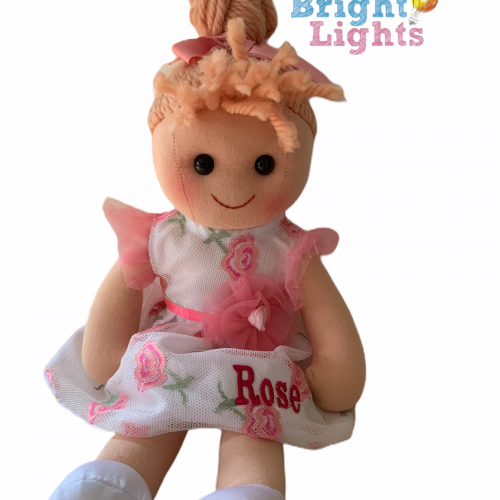 personalised flower girl rag doll