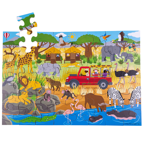 Wooden floor puzzle of Africa