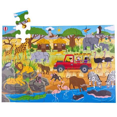 Wooden floor puzzle of Africa