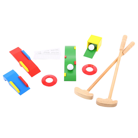 Toy wooden golf set