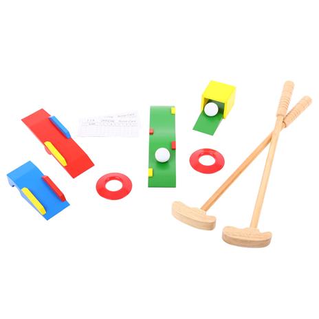 Toy wooden golf set