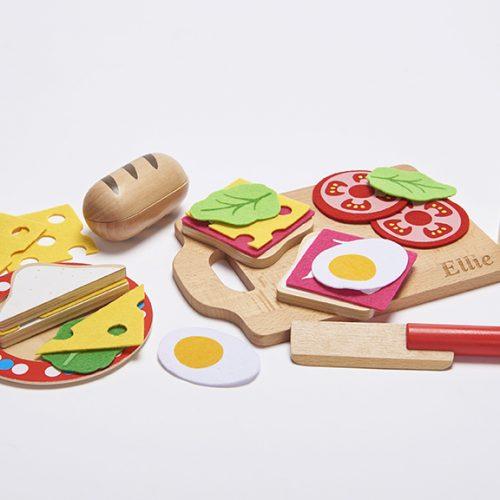 Wooden Sandwich Toy