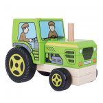 wooden tractor puzzle