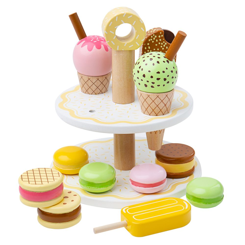 Wooden sweet treats set