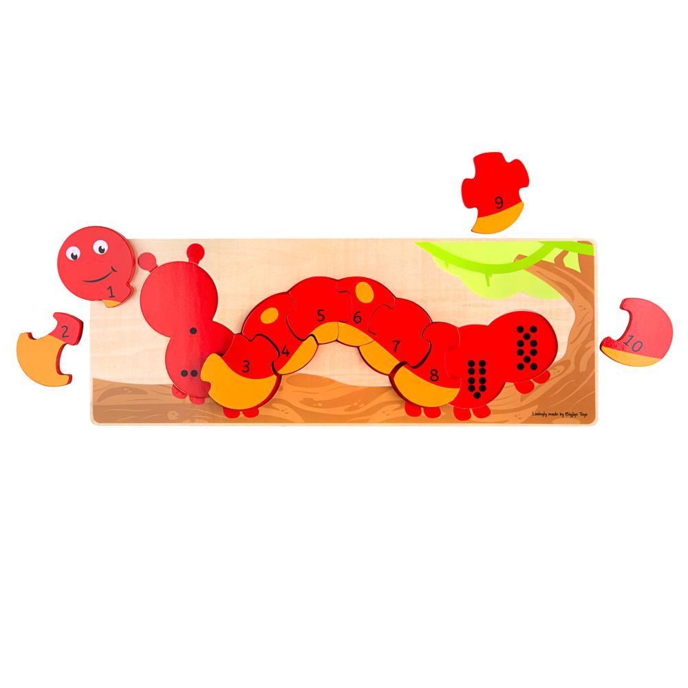 wooden caterpillar puzzle