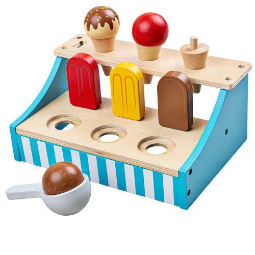 Wooden ice cream stand