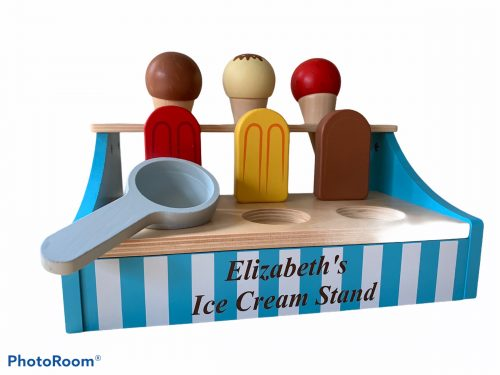 personalised wooden ice-cream stand