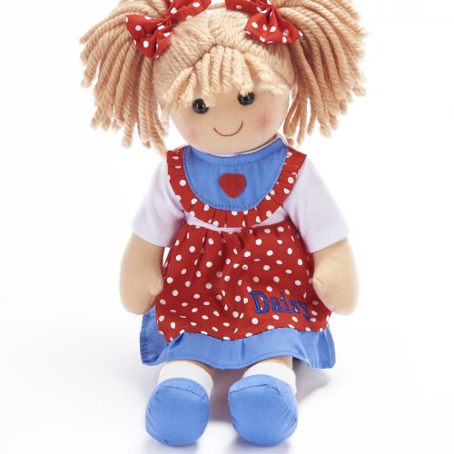Personalised Polka Dot Red Doll