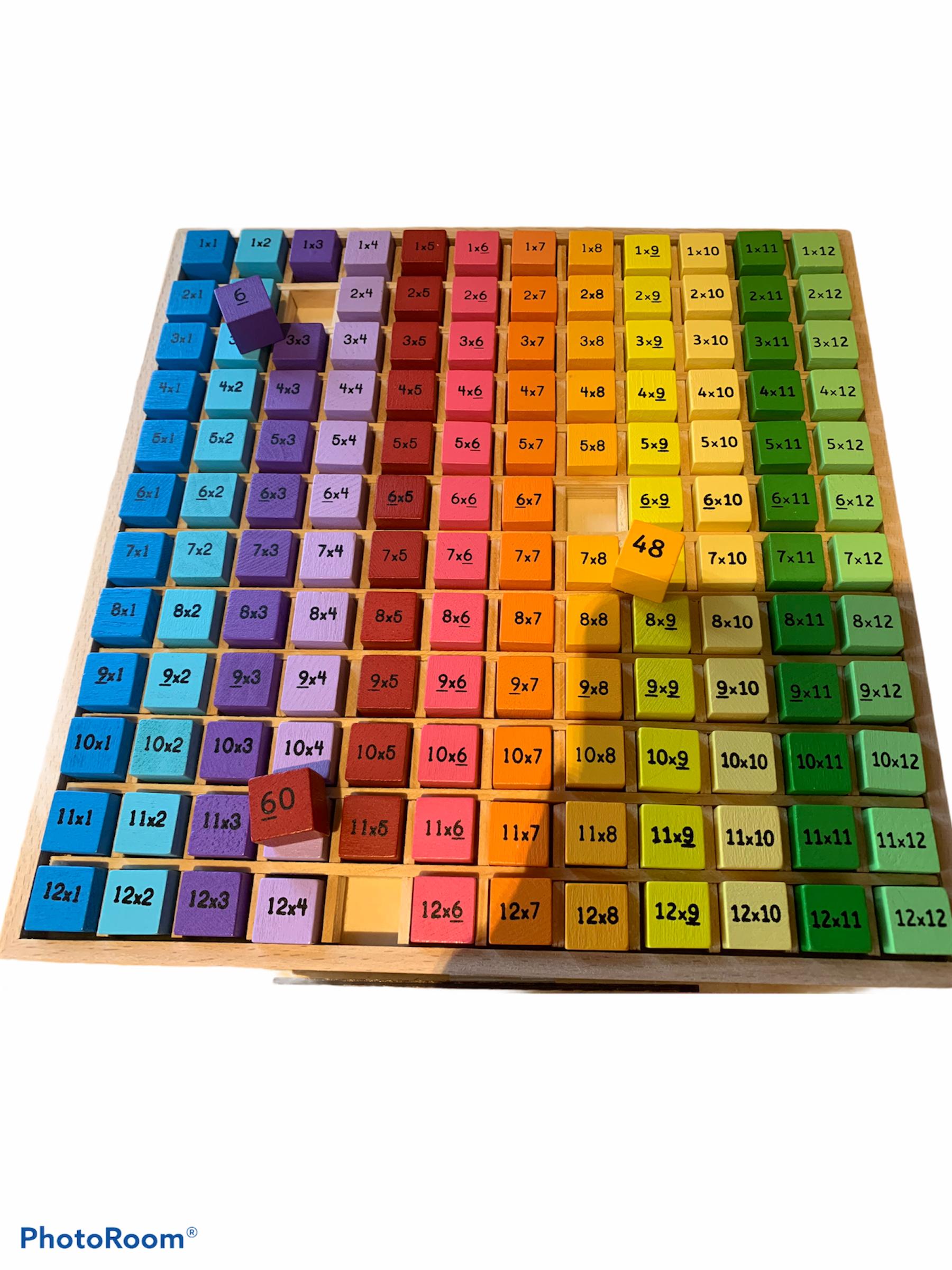 Wooden Multiplication Tray
