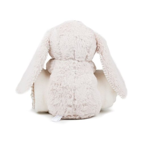 personalised toy rabbit with blanket