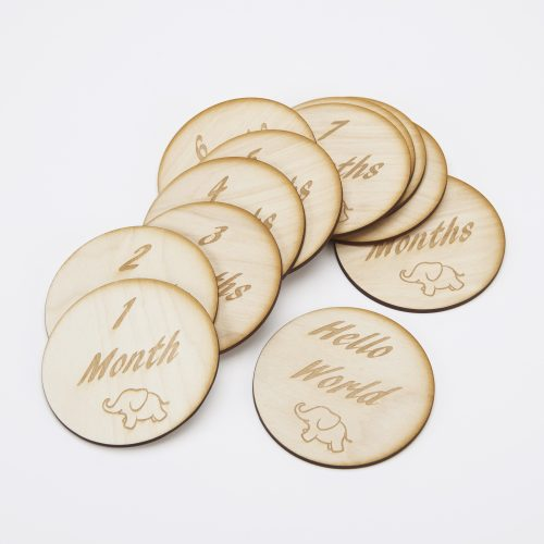 Wooden Birth mile Stone Markers