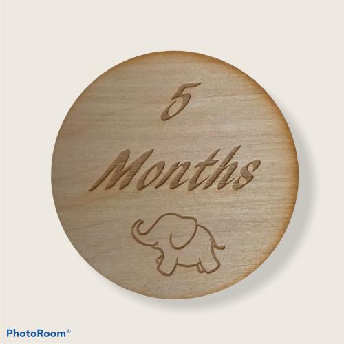 Wooden Birth Milestone Markers
