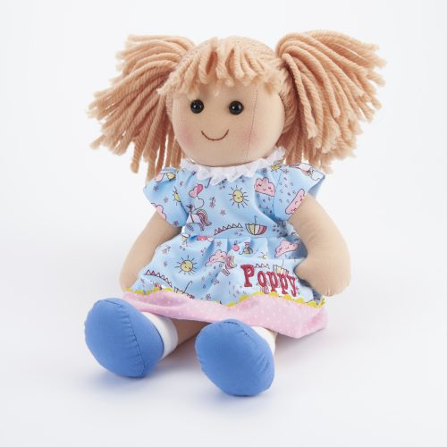 Personalised rag doll Poppy