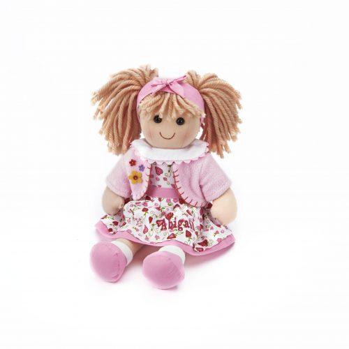 Personalised rag doll pink Abigail