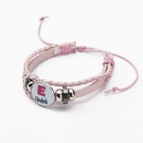 pink leather personalised